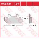 Тормозные колодки LUCAS MCB624