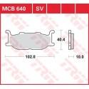 Тормозные колодки LUCAS MCB640
