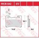 Тормозные колодки LUCAS MCB642SV