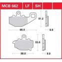 Тормозные колодки LUCAS MCB662LF