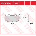 Тормозные колодки LUCAS MCB666SV