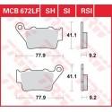 Тормозные колодки LUCAS MCB672SI
