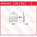 Тормозные колодки LUCAS MCB674