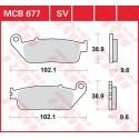 Тормозные колодки LUCAS MCB677