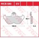 Тормозные колодки LUCAS MCB680