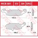 Тормозные колодки LUCAS MCB681SV