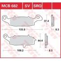 Тормозные колодки LUCAS MCB682