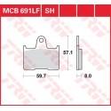 Тормозные колодки LUCAS MCB691LF