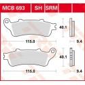 Тормозные колодки LUCAS MCB693SRM