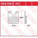 Тормозные колодки LUCAS MCB702LF