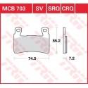 Тормозные колодки LUCAS MCB703SV