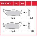Тормозные колодки LUCAS MCB707LF