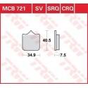 Тормозные колодки LUCAS MCB721SV