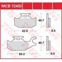 Тормозные колодки LUCAS MCB724SI