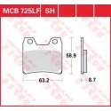 Тормозные колодки LUCAS MCB725SH
