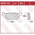 Тормозные колодки LUCAS MCB731LF