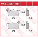 Тормозные колодки LUCAS MCB739SI