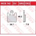 Тормозные колодки LUCAS MCB742SV