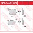 Тормозные колодки LUCAS MCB743SI