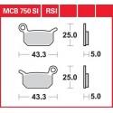 Тормозные колодки LUCAS MCB750SI