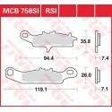 Тормозные колодки LUCAS MCB758SI