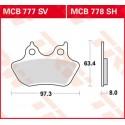Тормозные колодки LUCAS MCB777SV