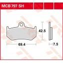 Тормозные колодки LUCAS MCB797SH