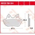Тормозные колодки LUCAS MCB799SH