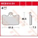 Тормозные колодки LUCAS MCB810SV