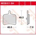 Тормозные колодки LUCAS MCB811SH