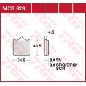 Тормозные колодки LUCAS MCB829SV