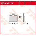 Тормозные колодки LUCAS MCB831SI