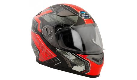 Шлем GEON 952 Интеграл Fantom черный-красный