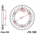 Звезда задняя легкосплавная JT JTA1308.42