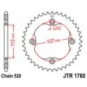 Звезда задняя JT JTR1760.40