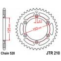 Звезда задняя JT JTR210.40