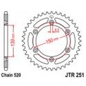 Звезда задняя JT JTR251.50
