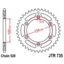 Звезда задняя JT JTR735.41