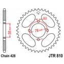 Звезда задняя JT JTR810.46
