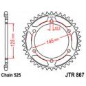 Звезда задняя JT JTR867.43