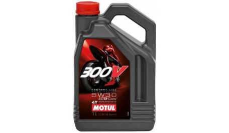 Масло Motul 300V 4T FACTORY LINE ROAD RACING SAE 5W30 (4L)