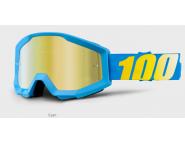 Мото очки 100% STRATA Goggle Cyan Blue - Gold