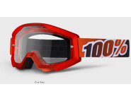 Мотоочки 100% STRATA Goggle Fire Red - Clear