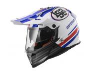 Эндуро шлем LS2 MX436 - RED / WHITE / BLUE