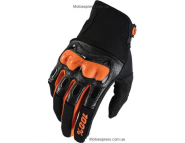 Мотоперчатки Ride 100% Derestricted Glove - Black-Orange