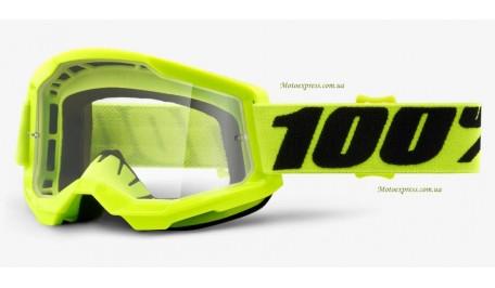 Мото очки 100% ACCURI 2 Goggle Yellow - Clear Lens