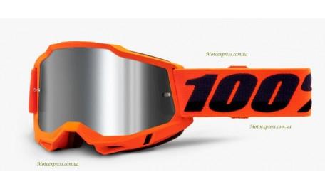 Мото очки 100% ACCURI 2 Goggle Orange - Mirror Silver Lens