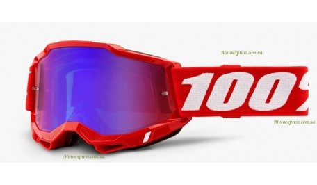 Мотоочки 100% ACCURI 2 Goggle Red - Mirror Red/Blue Lens
