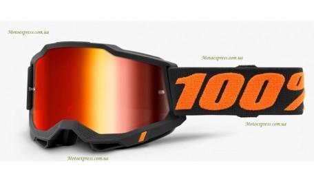 Мото очки 100% ACCURI 2 Goggle Chicago - Mirror Red Lens