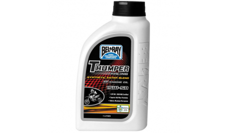 Мото масло моторное Bel Ray THUMPER RACING SYNTHETIC ESTER BLEND 4T 15W-50 1л